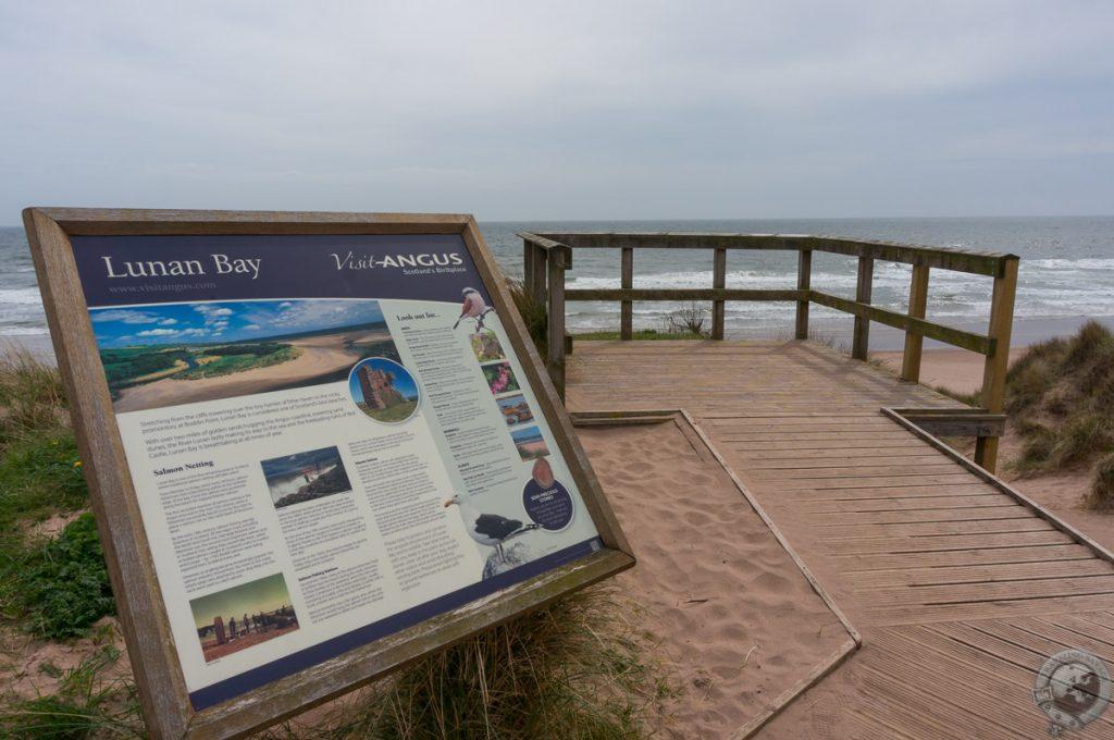 Seeing Red at Lunan Bay?s Beach and Ruins